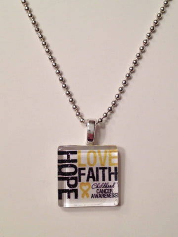 The LOVE, FAITH, HOPE Necklace
