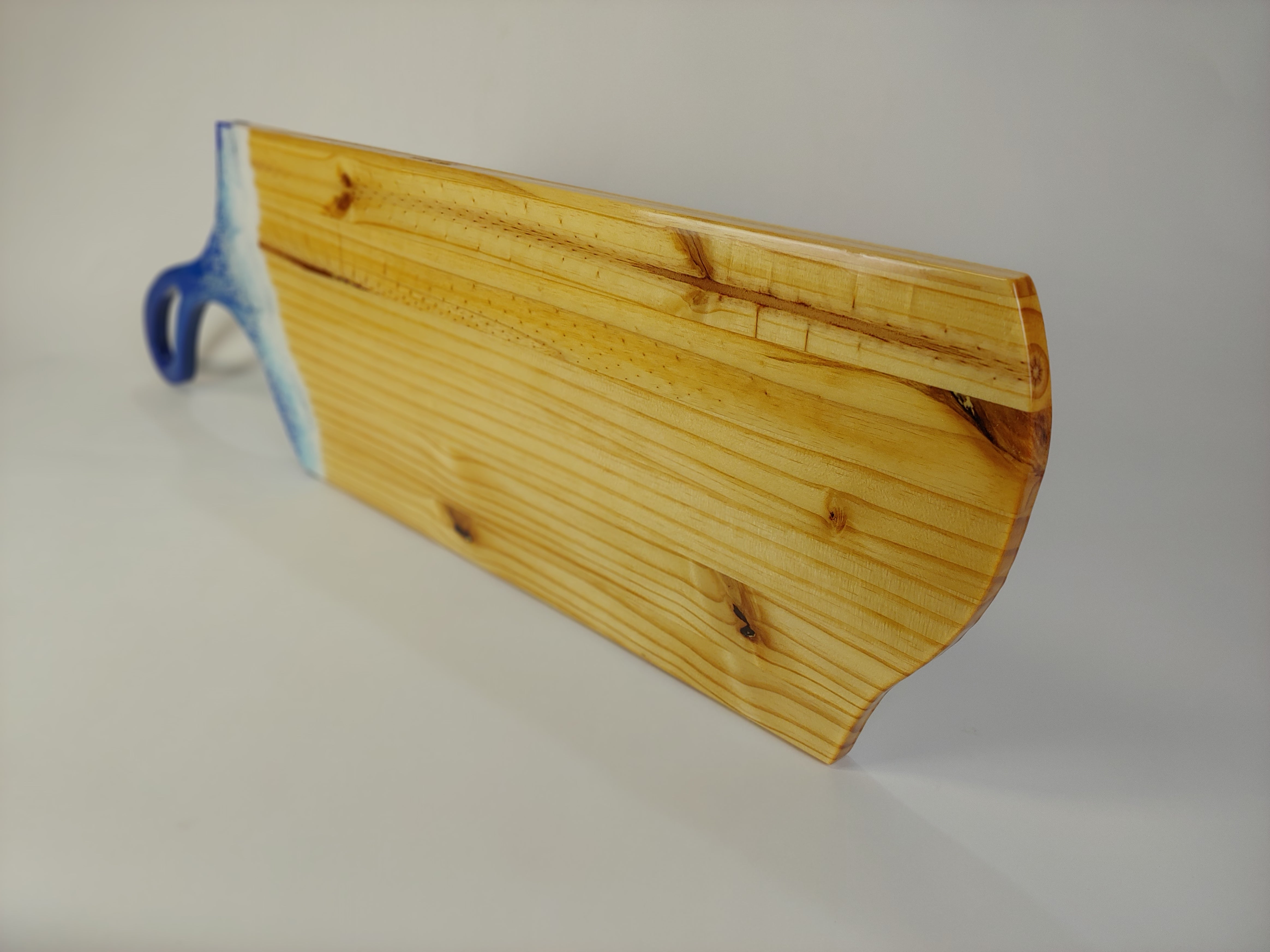 Ocean Wave Charcuterie Board with Long Handle