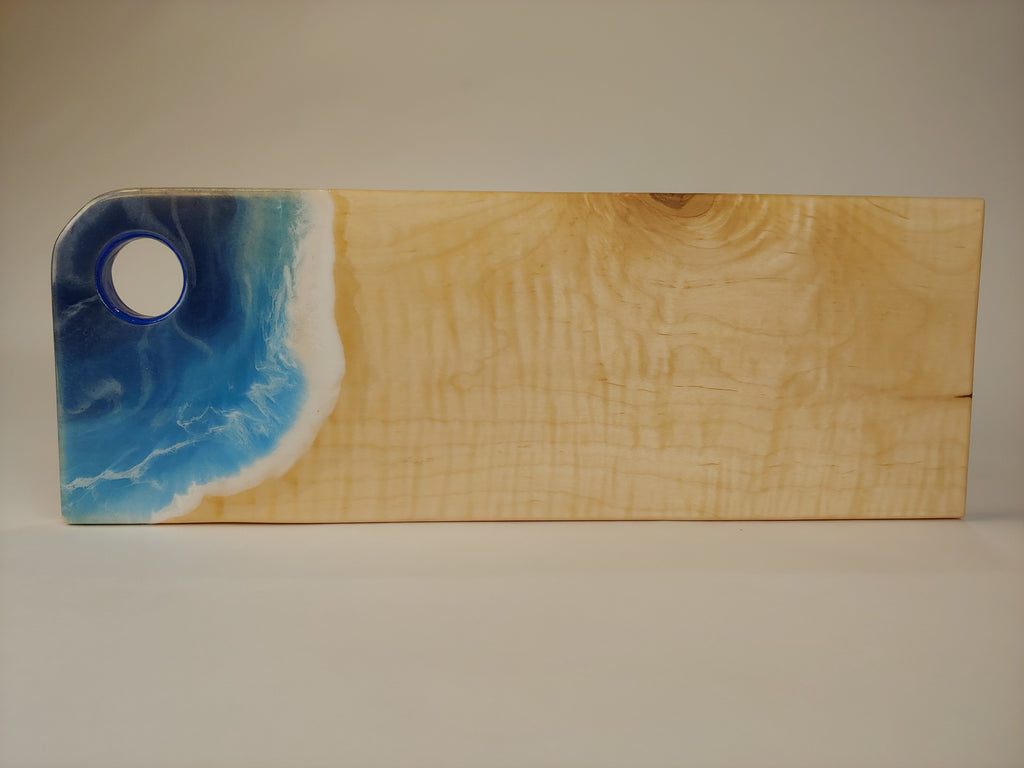Charcuterie Board/Epoxy Resin Ocean Wave