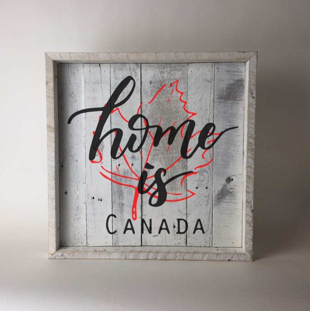 """Home Is...."" Pallet Wood Wall Art Sign"