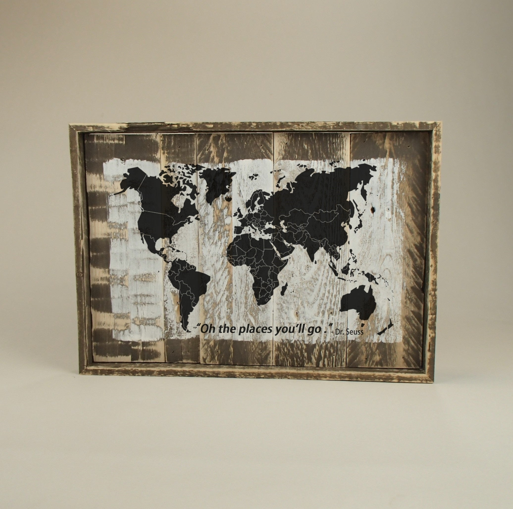 Pallet Wood Sign/Wall Art/World Map