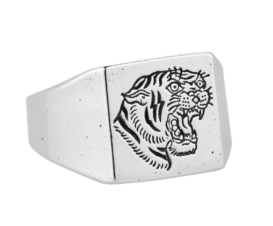 Tiger Signet Ring