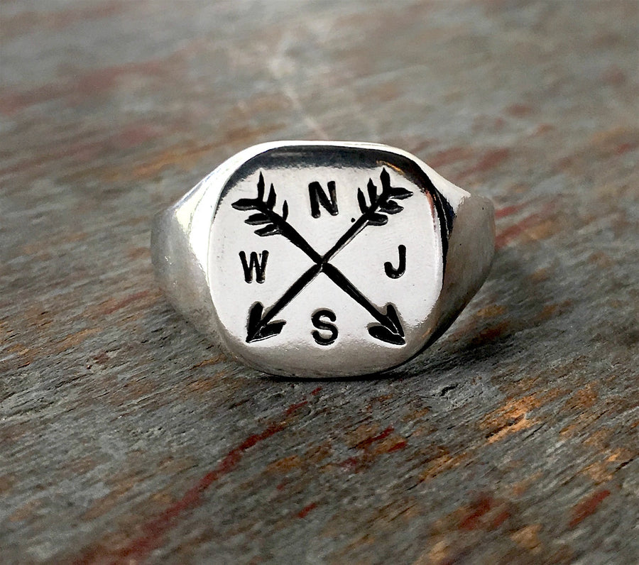 Arrow Ring - Custom Stamped