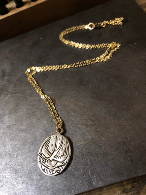 Swallow Necklace - Custom Stamped