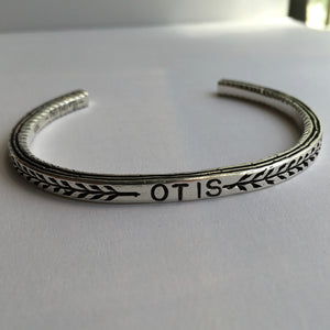 Pantheon Cuff - Custom Stamped