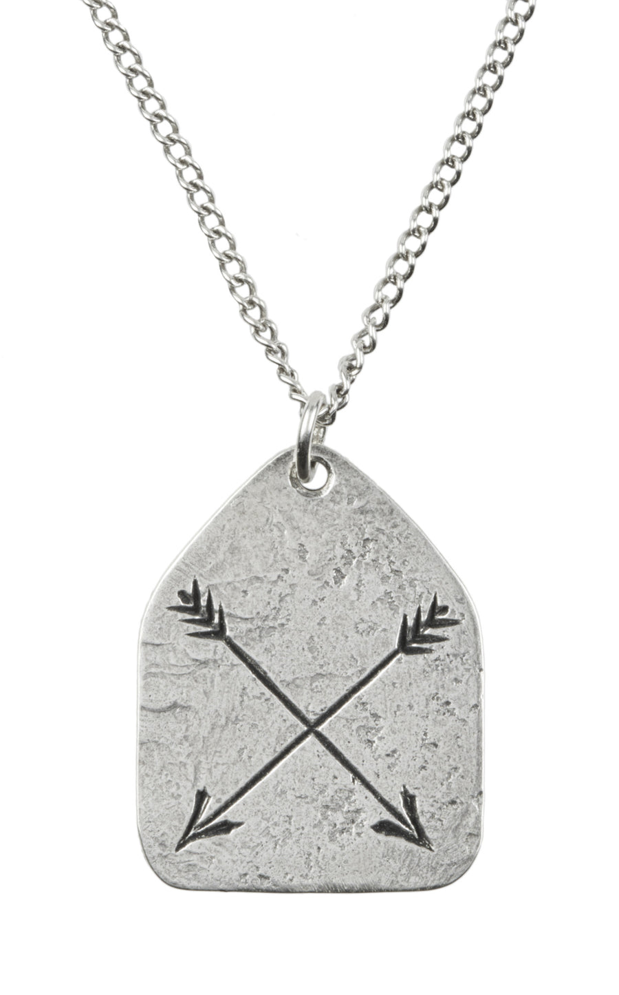 Arrow Charm Necklace - Custom Stamped