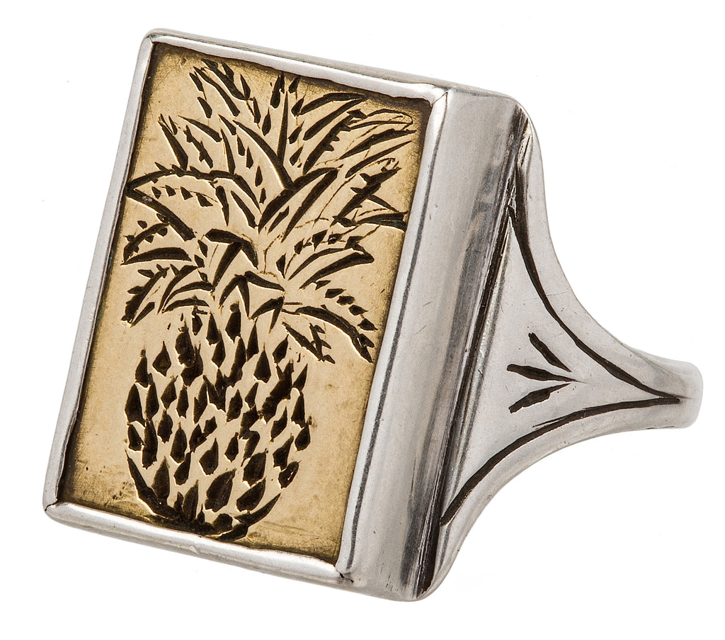 Pineapple Signet Ring