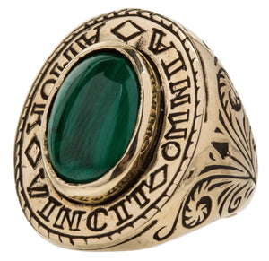 Amor Ring ~ Malachite Gemstone