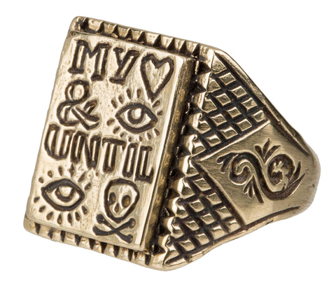 My Heart And Eye Until I Die Ring