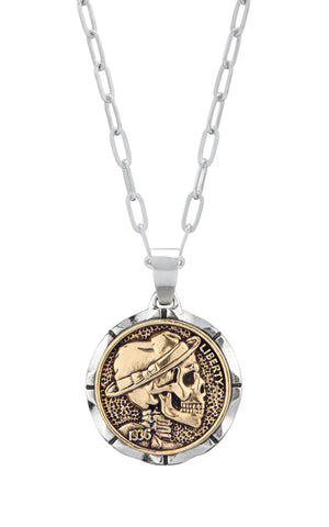 Hobo Nickel Souvenir Necklace