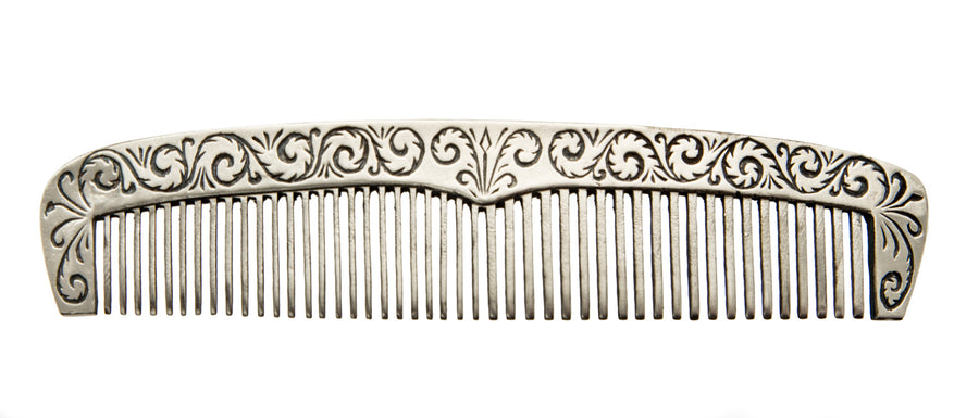 Odd Fellows Comb with Leather Case