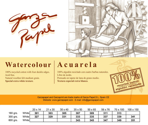 Garza Papel Watercolour Paper 300g