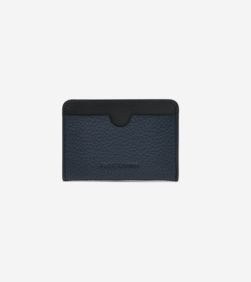 Black & Navy Pebble Grain