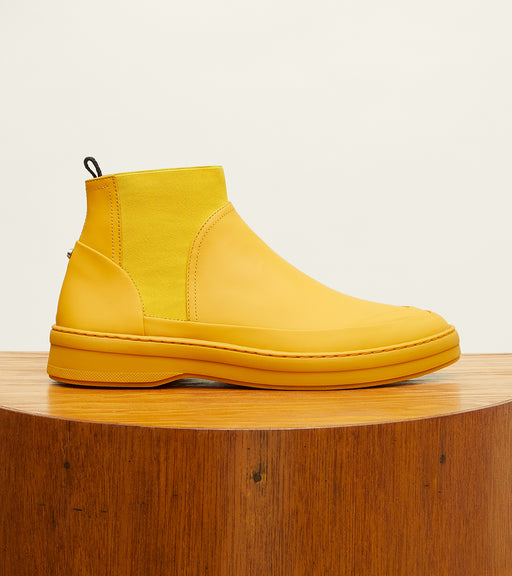 Canary Yellow Gum Leather