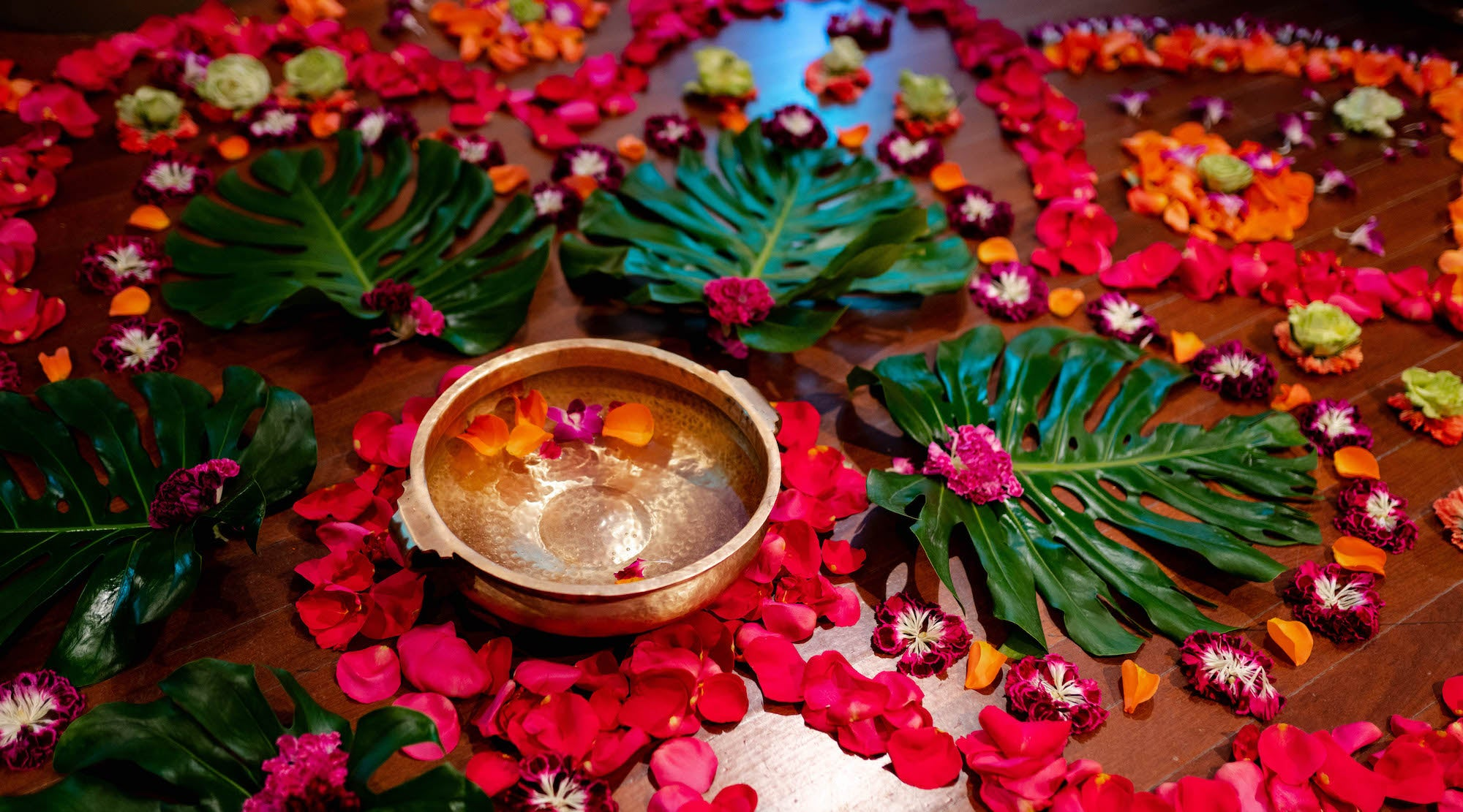 FLOWER ALTAR AT THE RUBIN MUSEUM