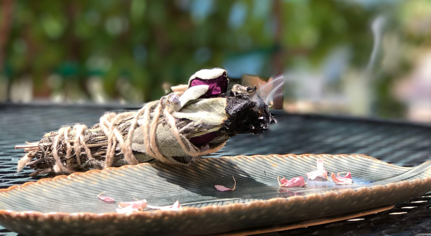 lavender sage smudge stick LOTUSWEI flower essences