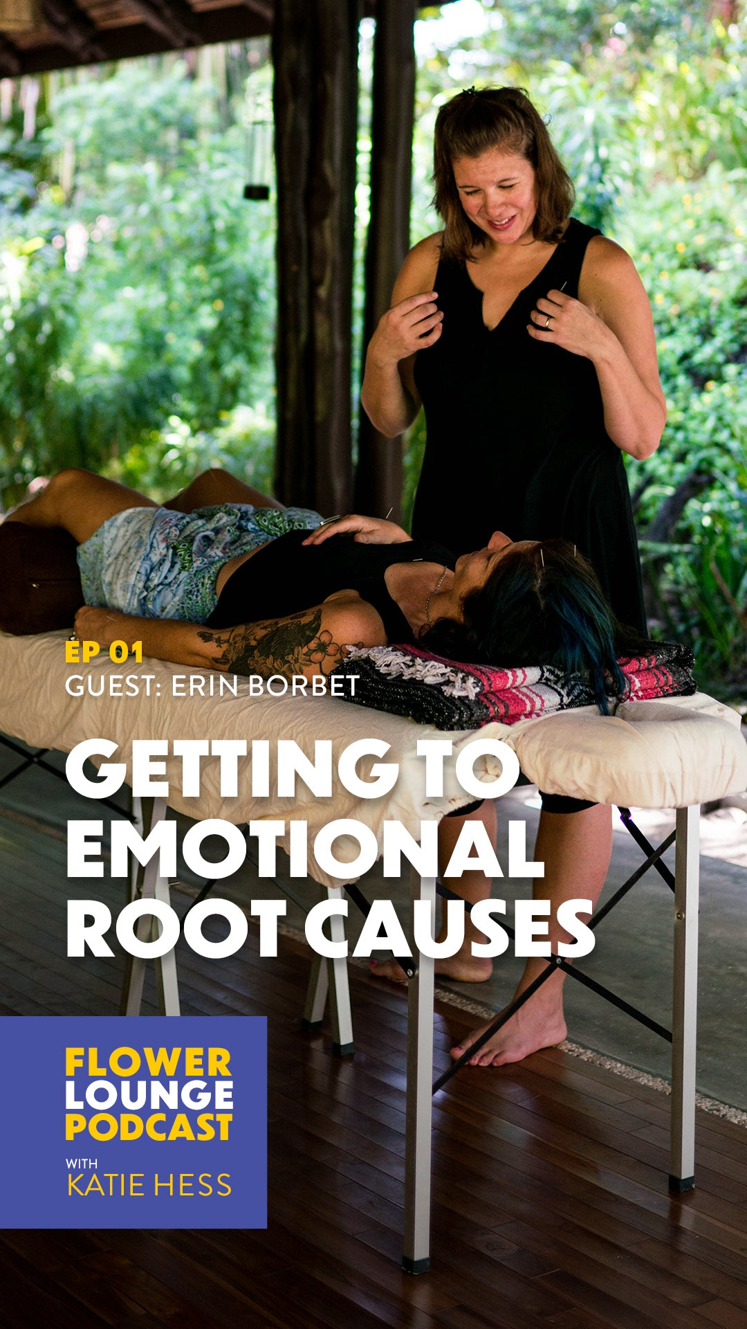 Getting to Emotional Root Causes with Erin Borbet on the Flowerlounge Podcast with Katie Hess