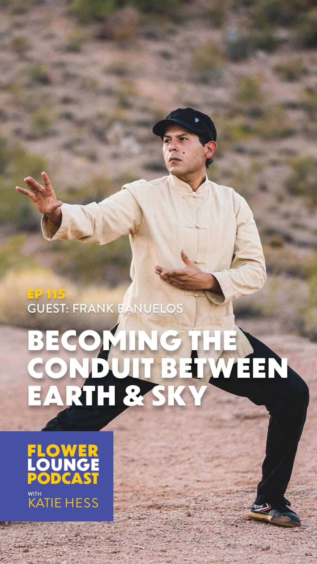 Becoming the Conduit Between Earth & Sky with Frank Banuelos on the Flowerlounge Podcast with Katie Hess