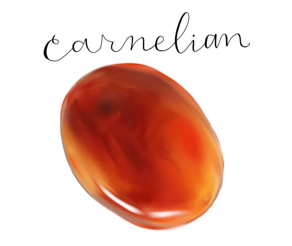 carnelian stone LOTUSWEI flower essences