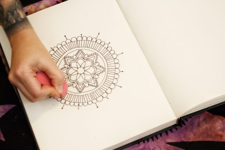 drawing a mandala LOTUSWEI flower essences