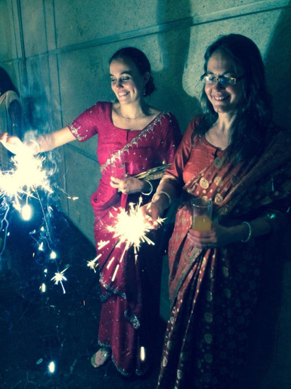 lisa katie india sari sparklers
