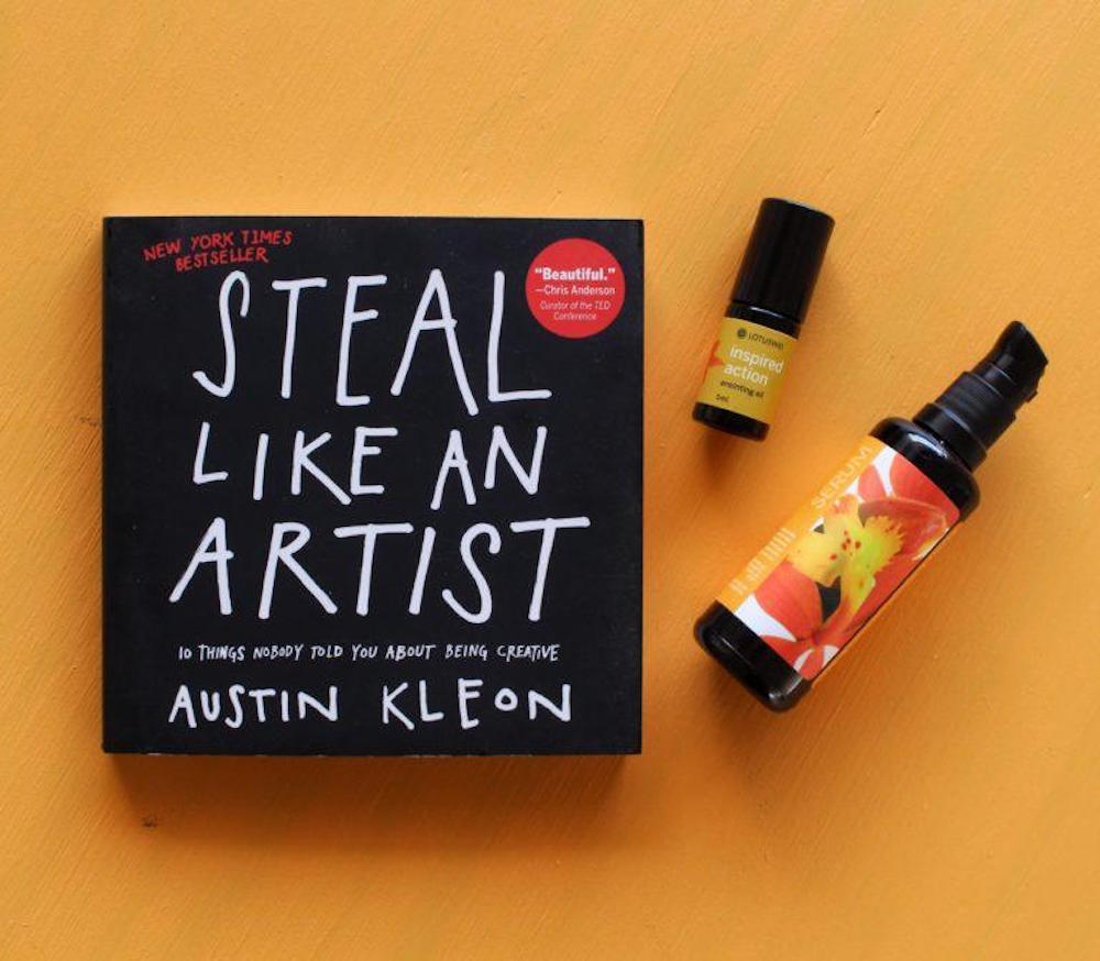 steal like an artist book LOTUSWEI flower essences
