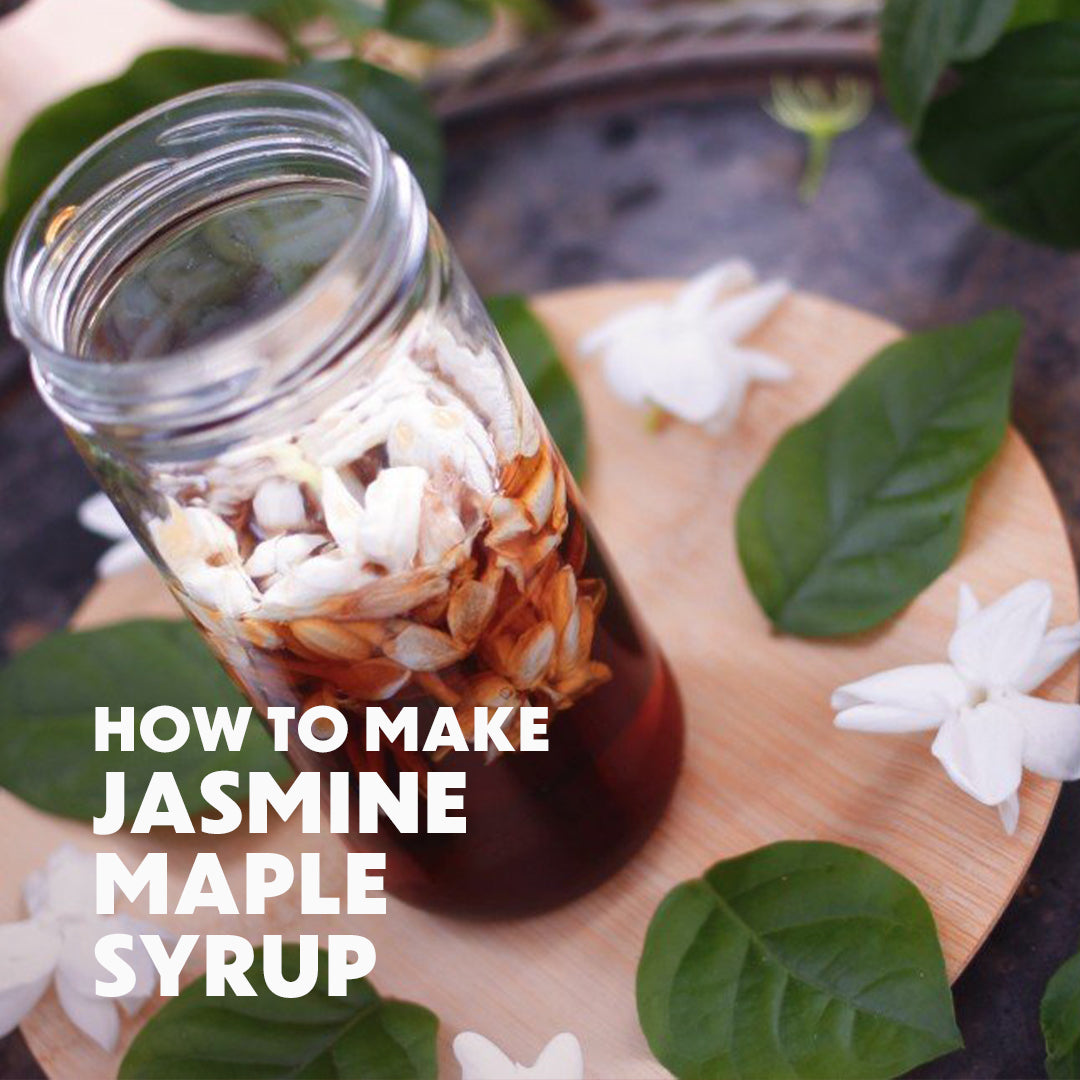 How To Make Jasmine Maple Syrup
