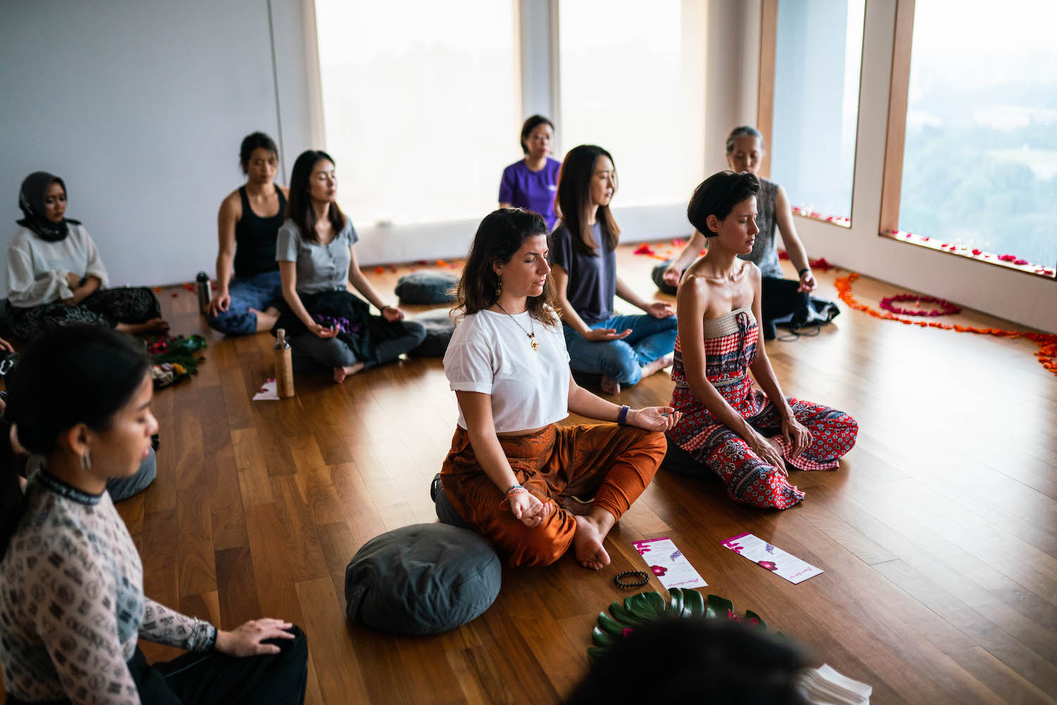 lotuswei Flowerlounge in Singapore flower essence teaching with meditation