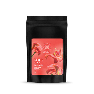 Infinite love flower essence bath salts LOTUSWEI E6BSC