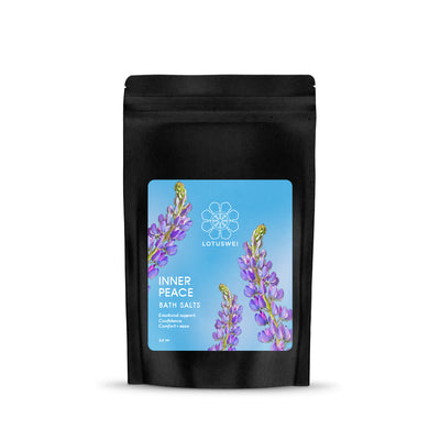 inner peace flower essence bath salts LOTUSWEI