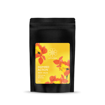 inspired action flower essence bath salts LOTUSWEI