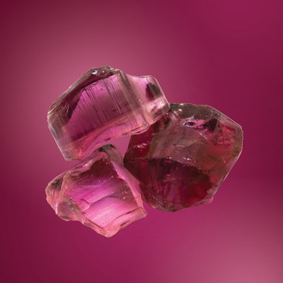 pink tourmaline gemstone card LOTUSWEI flower essences