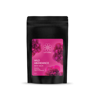 wild abundance flower essence bath salts LOTUSWEI