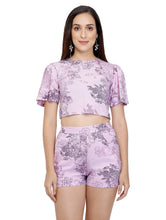 Load image into Gallery viewer, Lilac Printed Shorts
