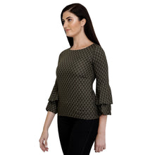 Load image into Gallery viewer, Olive Green Cotton Bell Top