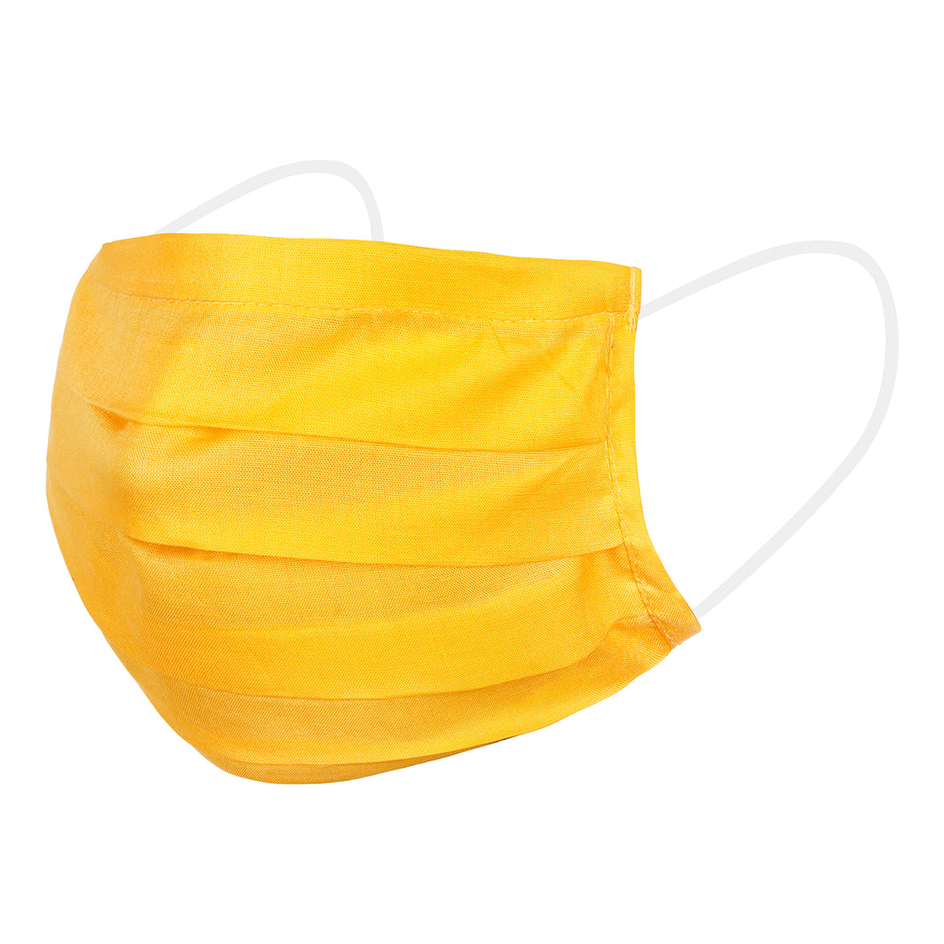 Yellow and White Reusable Fabric Mask (set of 10)