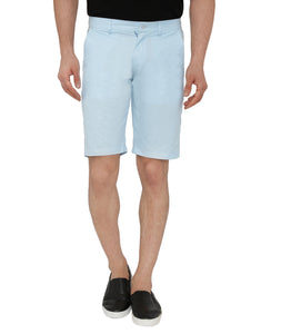 Blue Cotton Shorts