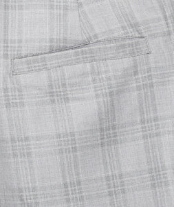 Grey Checks Formal Trousers