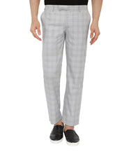 Load image into Gallery viewer, Grey Checks Formal Trousers