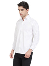 Load image into Gallery viewer, White Cotton Contrast Flap Shirt