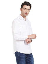 Load image into Gallery viewer, White Cotton Shirt With Pockets