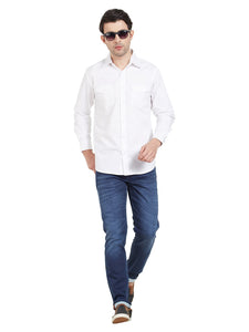 White Cotton Shirt With Pockets