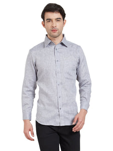 Grey Linen Casual Shirt