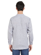 Load image into Gallery viewer, Grey Linen Chinese Collar Shirt