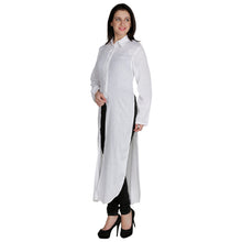 Load image into Gallery viewer, White Sheer Maxi Top With Sleeves