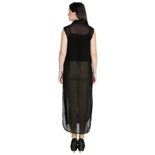 Load image into Gallery viewer, Black Sheer Maxi Top