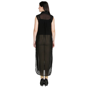 Black Sheer Maxi Top