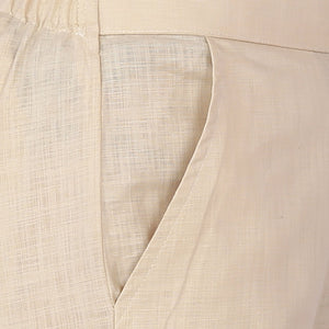 Cream Cotton Pants