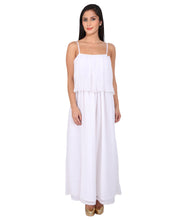 Load image into Gallery viewer, White Flapped Pleated Dress