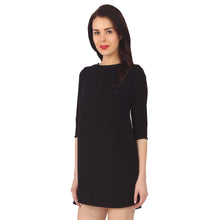 Load image into Gallery viewer, Black Shift Dress